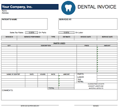 Invoice For Services Template Free Free Dental Invoice Template Excel Pdf Word Doc