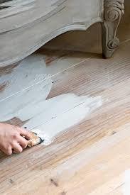 Laminate Flooring White Wash Diy White Washed Floors With Chalk Painttm