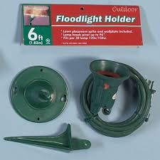 outdoor flood light stake outdoor floodlight holder with ground stake case of 6 28479