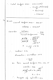 mensuration iii surface area and volume of a right circular