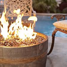 wine barrel fire table etco cement wine barrel fire pit reviews wayfair