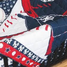 Yankees Crib Bedding Mlb New York Yankees Baseball 4pc Crib Bedding Set