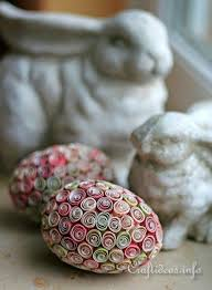paper easter eggs lovely quilled paper easter eggs allfreeholidaycrafts