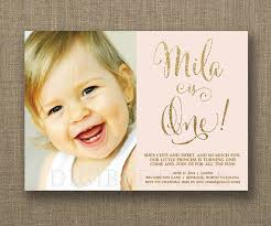and gold 1st birthday invitations