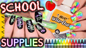back to nails using only supplies challenge youtube