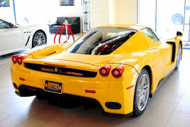 ferrari yellow car ferrari enzo sold at ferrari of new england