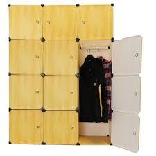 closet storage kingso resin wood grain cubes diy wardrobe closet
