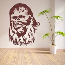 chewbacca star wars chewie vinyl wall art sticker movie decal chewbacca star wars chewie vinyl wall art sticker movie decal bedroom modern removable wallpaper mural adesivo de parede d545 in wall stickers from home