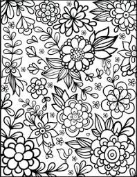 printable u0027do happy u0027 flower design coloring