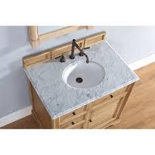 Bathroom Vanities Oak by Savannah 36 Inch Bathroom Vanity In Natural Oak Finish Carrara