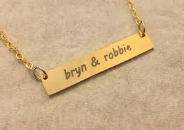 Custom Necklace Name Nameplate Necklace Name Bar Necklace Best Friends Relationship