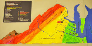 Map Of The State Of Virginia by Salt Dough Physiographic Province Map Of Virginia Mountain