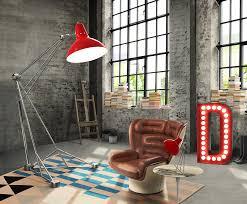 Pine Floor Lamp by Lights Diana Floor Giant Colorful Loft Studio Vintage Industrial