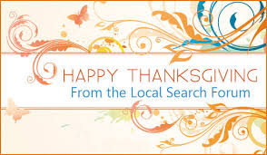 happy thanksgiving from the local search forum team