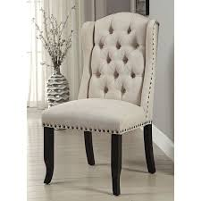 Tufted Dining Chair Set Furniture Of America Telara Tufted Wingback Dining Chair Set Of 2