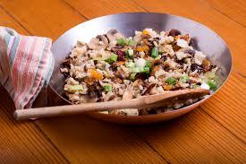 wild rice thanksgiving side dish vegetarian wild rice and mushroom pilaf recipe