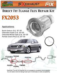 fx2053 semi direct fit exhaust flange repair flex pipe replacement