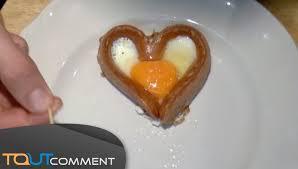 cuisiner des saucisses cuisiner une saucisse en forme de coeur
