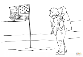 moon coloring page click to see printable version of first man on
