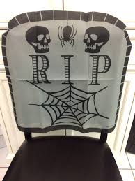 Haunted Halloween Gift by Black Pirate Skull Crossbones Chair Cover Birthday Party Halloween