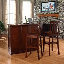 Crosley Furniture Bar Cabinet Crosley Furniture Mobile Folding Bar In Vintage Mahogany Finish