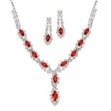 prom necklace classic rhinestone prom necklace set with light siam hacked