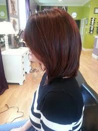 red brown long angled bobs davines red hair medium length locks 4 days pinterest hair