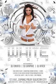 free all white party flyer template white party flyer template