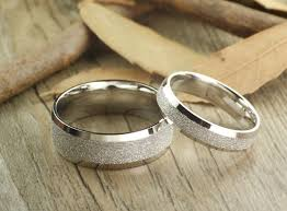 couples rings set images Handmade wedding bands couple rings set titanium rings set annivers JPG
