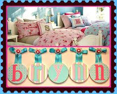 Pottery Barn Kids Names Wooden Letters For Nursery In Pink White And Blue An Girls And