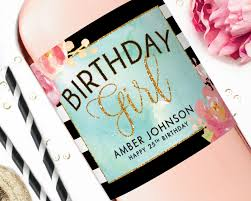 birthday wine birthday wine labels happy birthday champagne label stickers