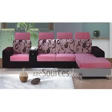 Black Fabric Sofa Sets Wholesale High Quality Black And Pink Floral Prints Fabric Sofa