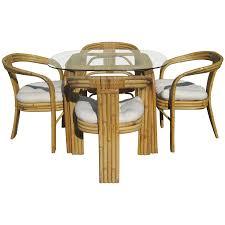 Rattan Dining Room Set Viyet Designer Furniture Tables Vintage Paul Frankl Style