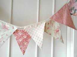 pastel shabby chic fabric banners bunting garland wedding
