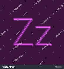 Purple Color Alphabet Letters Purple Color Lights 3d Stock Vector 450530821