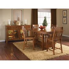 Oak Dining Room A America Laurelhurst Wine Storage Counter Height Dining Table