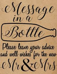 message in a bottle wedding instant message in a bottle sign rustic country