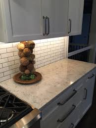 Kitchen Backsplash Contemporary Kitchen Other 3cm Viatera Quartz Rococo With Subway Tile Backsplash A Timeless