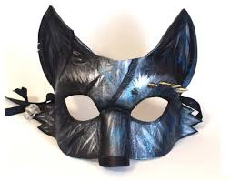 wolf masquerade mask silver fox mask spiked leather masquerade mask mardi gras