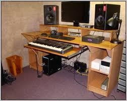 Diy Recording Desk Home Studio Desk Design Endearing Diy Fully Custom Built Studio