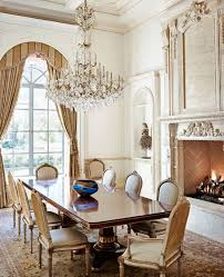 formal dining room design with chandelier and fireplace formal