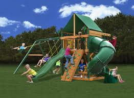 best priced swing set with a tube slide gorilla playsets