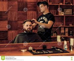 hairstyle process in a man u0027s barbershop stock photo image 70747683