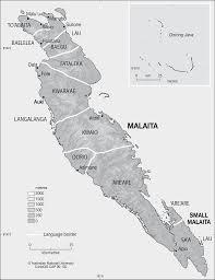 Solomon Islands Map Malaita Languages Cartogis Services Maps Online Anu