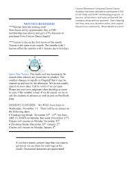 november newsletter academy