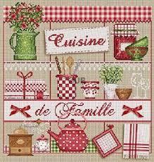 point de croix cuisine grille kit cuisine de famille grille ou kit de madame la fée