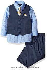 baby boy clothes baby boys vest set blue pinstripe