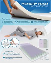 King Size Memory Foam Mattress Topper Amazon Com Pharmedoc Memory Foam Mattress Topper 2 Inch Thick