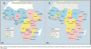 map with names of countries in africa migration mines and mores the hiv epidemic in southern africa