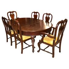 Chippendale Dining Room Furniture Antique Mahogany Chippendale Dining Table And Eight Chairs Ebth